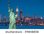photo tourism concept new york...   Shutterstock . vector #59848858