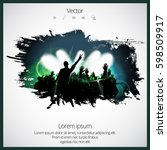 silhouette of dancing people | Shutterstock .eps vector #598509917