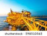 offshore construction platform... | Shutterstock . vector #598510565