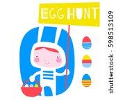 cute creative card template... | Shutterstock .eps vector #598513109