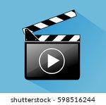 clapper board   Shutterstock .eps vector #598516244