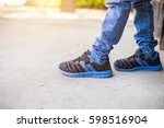 baby jeans shoes closeup | Shutterstock . vector #598516904