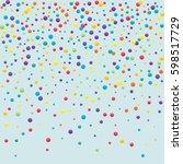 festive colorful round confetti ... | Shutterstock .eps vector #598517729