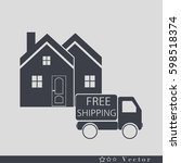 free shipping icon.   Shutterstock .eps vector #598518374