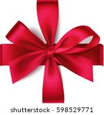 decorative red bow  with...   Shutterstock .eps vector #598529771