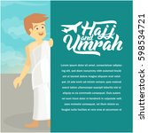 hajj and umrah poster and... | Shutterstock .eps vector #598534721
