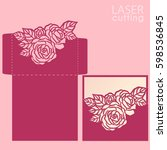 vector die laser cut envelope... | Shutterstock .eps vector #598536845