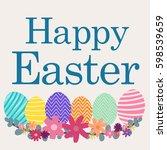 happy easter day | Shutterstock .eps vector #598539659