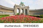 the triumphal arch  arc de...   Shutterstock . vector #598540835