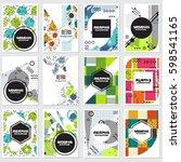 memphis background style design ... | Shutterstock .eps vector #598541165