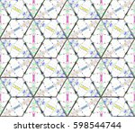 seamless pattern for backgrounds | Shutterstock . vector #598544744