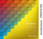 abstract vector background.... | Shutterstock .eps vector #598545785
