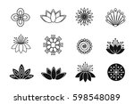 set of flower design elements.... | Shutterstock .eps vector #598548089