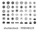 set of flower design elements.... | Shutterstock .eps vector #598548125
