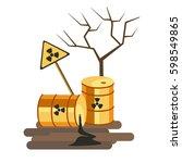 environmental pollution problem ... | Shutterstock .eps vector #598549865