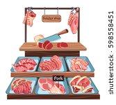 sketch butcher shop concept...