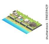 Isometric Coastal Suburban...