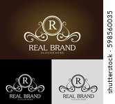 real brand is beautiful logo... | Shutterstock .eps vector #598560035