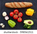 ingredients for cooking.   Shutterstock . vector #598561511