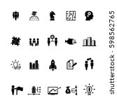 business training icon set | Shutterstock .eps vector #598562765