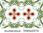colorful symmetrical horizontal ... | Shutterstock . vector #598563974
