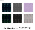 wallpaper  background  patterns ... | Shutterstock .eps vector #598573211