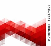 red grid mosaic background ... | Shutterstock .eps vector #598574579