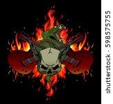 rock music festival vector... | Shutterstock .eps vector #598575755