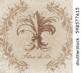 Fleur De Lis Illustration In A...