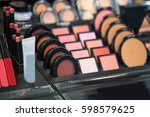 showcase with a variety of... | Shutterstock . vector #598579625