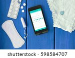 smartphone and hygiene things | Shutterstock . vector #598584707