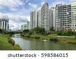 singapore public housing... | Shutterstock . vector #598586015