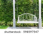 front porch with a white porch... | Shutterstock . vector #598597547