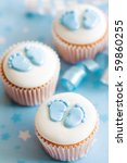 cupcakes for a baby shower | Shutterstock . vector #59860255