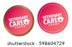 veterinary care stickers | Shutterstock .eps vector #598604729