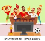 vector cartoon illustration of... | Shutterstock .eps vector #598618091