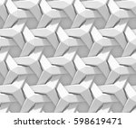 white shaded abstract geometric ... | Shutterstock . vector #598619471