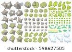 set of landscape elements.  top ... | Shutterstock .eps vector #598627505