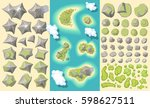 vector set. landscaping... | Shutterstock .eps vector #598627511