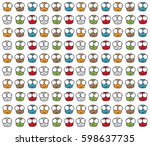 a set of characters. they are... | Shutterstock .eps vector #598637735