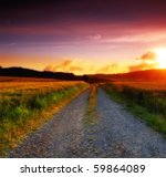 A Sunset Photo Of Road And...