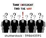 think different  idea...   Shutterstock .eps vector #598643591