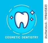 health dent logo design vector... | Shutterstock .eps vector #598645835