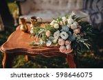 a wedding bouquet of flowers... | Shutterstock . vector #598646075
