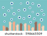 social media competition.... | Shutterstock .eps vector #598665509