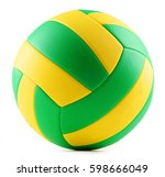 leather volleyball isolated on... | Shutterstock . vector #598666049