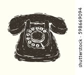 hand drawn vector illustration... | Shutterstock .eps vector #598669094