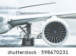 detail of airplane engine wing... | Shutterstock . vector #598670231