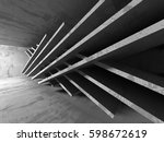 abstract concrete architecture...   Shutterstock . vector #598672619