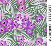 seamless vector floral pattern. ... | Shutterstock .eps vector #598673999